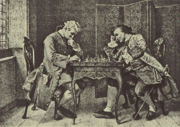 Ernest Meissonier : 'The chess game' (1836) The Hannover Landesmuseum